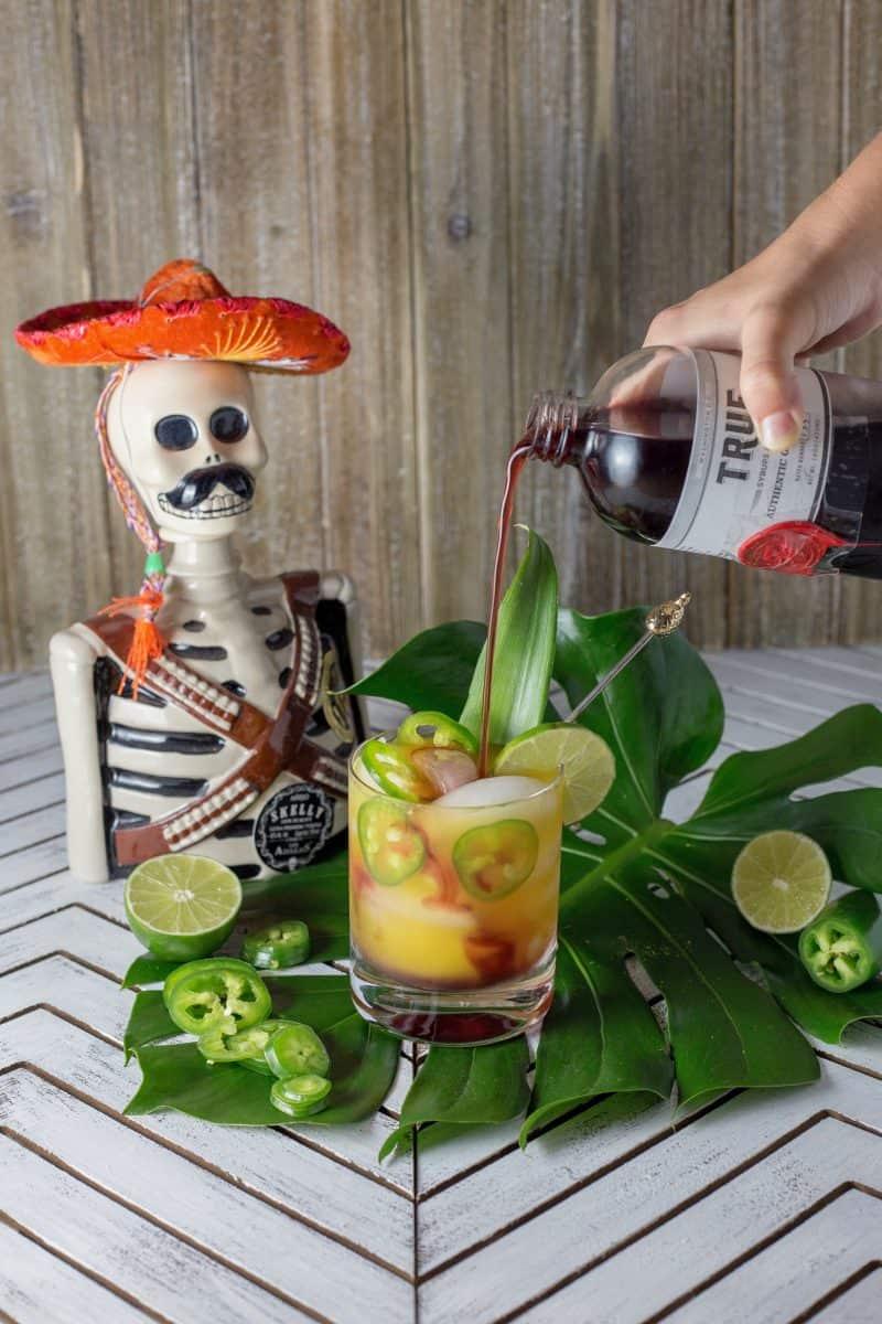 mango jalapeno tequila sunrise