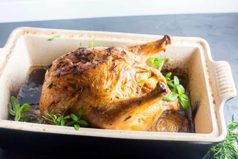 Easy Roasted Chicken with Tarragon