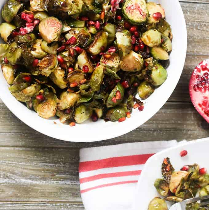 Roasted Brussel Sprouts with Pomegranate Glaze