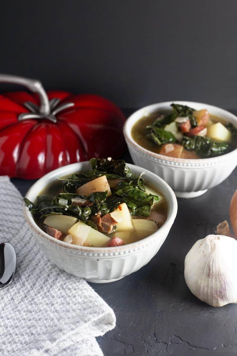 Sausage Potato Soup with Kale